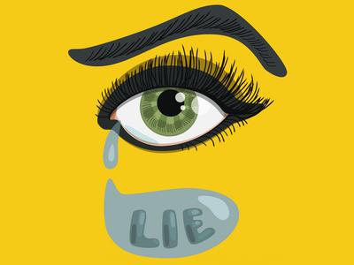 Lying Eye crying cry tears tear green eye vector illustration eyes eye lying lier lie