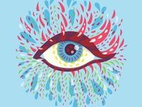 Blue Psychedelic Eye