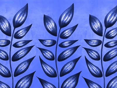 Blue abstract plant with pointy leaves texture abstract plant pretty beautiful abstract botanical pattern painitng blue floral nature plant