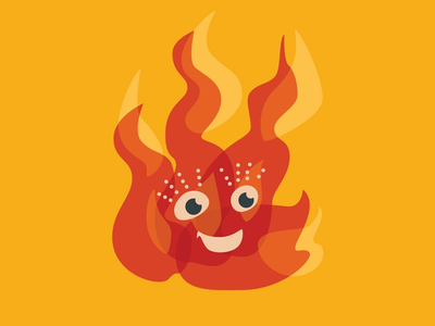 Happy burning fire flame character smiling smile illustrtaion vector orange happy cartoon cute character flame fire