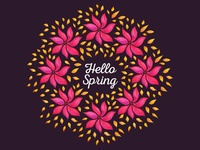 Hello Spring floral wreath