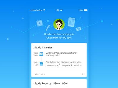 OnionMath wechat applet for parents wechat applet book computer calendar study gradient app ui