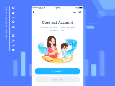 Account Connect Page on WeChat Applet for Parents