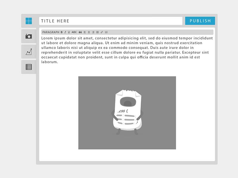 WordPress Front End Editor - Concept wordpress front end editor flat flat wordpress wordpress concept