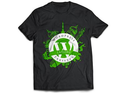 WordPress Pakistan T-Shirt Design wordpress wordcamp pakistan logo badge tshirt t-shirt t shirt