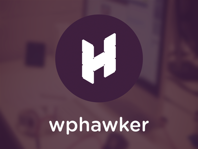 WPHawker.com LOGO Design wordpress flat cool font circle gotham rounded