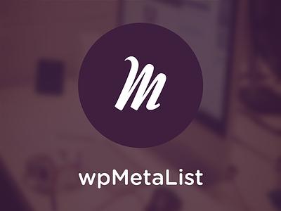 wpMetaList.com LOGO Design wordpress flat cool font circle gotham rounded