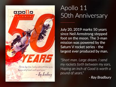 Apollo 11 50th Anniversary Poster