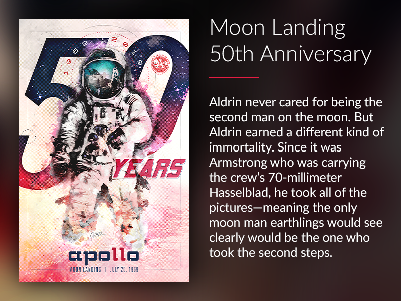 Moon Landing 50th Anniversary poster space race space nasa neil armstrong buzz aldrin 50th anniversary moon landing apollo 11