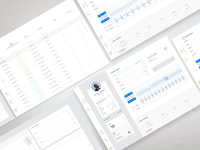 CAST Cardiology Webplatform desktop saas app mobile heart medical doctor list design uxui ui ux ecg medicine