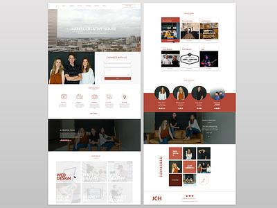 Jarrell Creative House One Pager creative agency portfolio site minimalistic onepager custom web design ux ui uiuxdesign uiux web design website