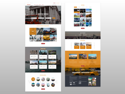 City Tours Landing Page booking website themeforest custom theme custom website ux ui ui  ux uiux design theme design