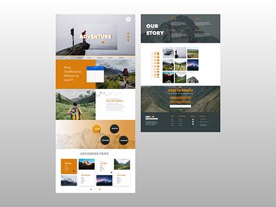 Hiking/Trekking Landing Page themeforest theme uiuxdesign uiux ui custom website theme design