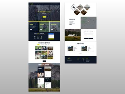 Hunting Landing Page xd uiuxdesign uiux ux ui website design custom website themeforest theme design