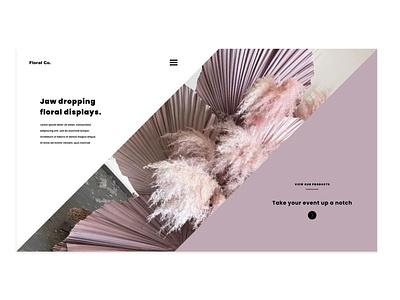 Floral Co. Design Project 1.0 minimalistic creative agency design custom web design uiuxdesign uiux custom website ui