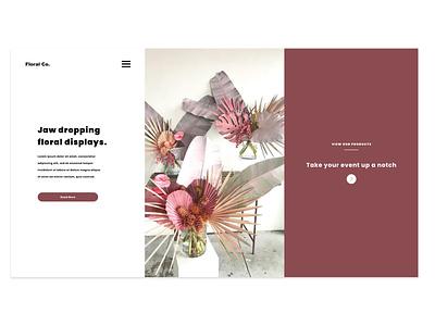 Floral Co. Project Design 2.0 ux minimalistic design custom web design uiuxdesign uiux creative agency ui custom website