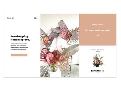 Floral Co Design Project 3.0 minimalistic custom web design creative agency ux uiuxdesign uiux custom website ui