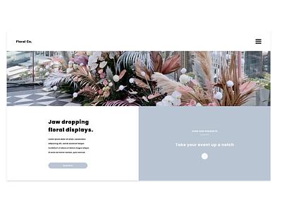 Floral Co. Design Project 4.0 minimalistic custom web design creative agency ux uiuxdesign uiux custom website ui