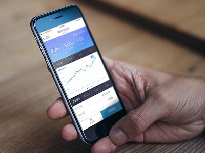 Blue version ui app financial detailpage fund