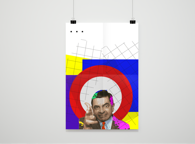 Mr Bean geometric art geometric target series film minimalism minimalist humour revolver mr bean abstract art colors abstract graphicdesign graphic design art illustrator designs design graphic design