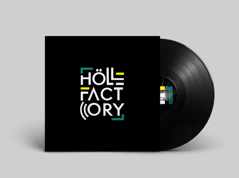 Hölle factory typogaphy brand identity brand design graphic music art music vinyl design vinyl visual design vinyle minimalist designer graphic branding design art illustrator designs graphicdesign logo design