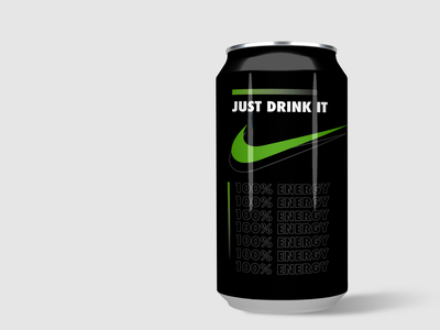 Nike can logotype green logo green brand identity illustrator logo packaging packagingdesign package drinking drink can nike branding abstract designer graphicdesign design designs design graphic
