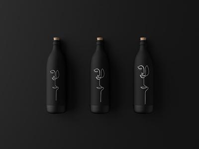Blackbottles print line art lineart design art abstract graphic package design packagedesign packaging bottle abstract design illustrator illustration minimalist graphicdesign design designs branding logo design graphic