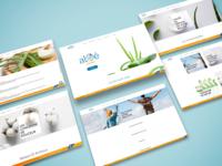 Webdesign aloe natural products designer website concept website design website webdesigner webdesign graphic designs design graphicdesign design graphic