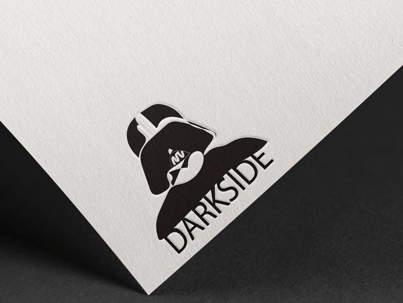 DARKSIDE typography vector illustration branding design logo illustrator graphic design art designer graphicdesign designs design graphic