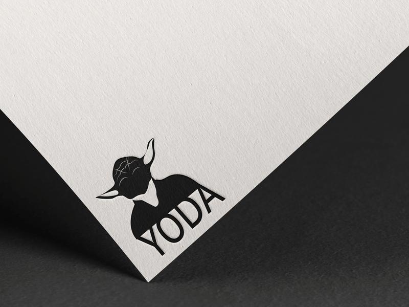 YODA minimalist logo minimalism typography logo typographic typo star wars art starwars yoda design art designer illustration graphic logo branding illustrator minimalist graphicdesign design graphic