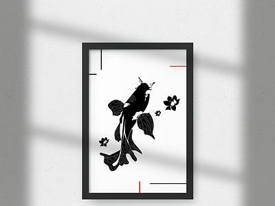 KOÏ print fish japan japanese art japon poster design posters designer illustrator illustration minimalist graphic design art design graphicdesign design graphic