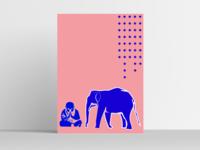 ZEN print design printing pink print blue lineart elephant buddha yoga minimalism graphic illustrator designer illustration posters design art designs graphicdesign design graphic