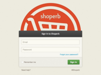 Sign In to your Shoperb store