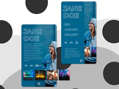 Artist Profile design web ui mobile design mobile