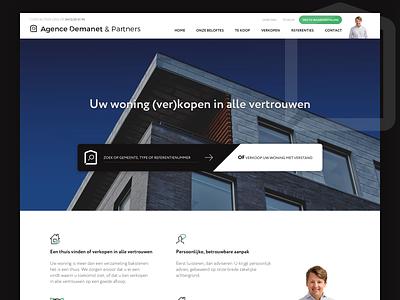 Immo Agence Demanet immo immobilier website webdesign