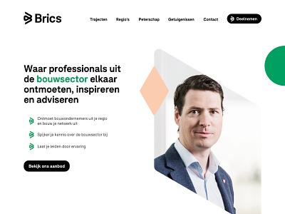 Brics design website shapes webdesign