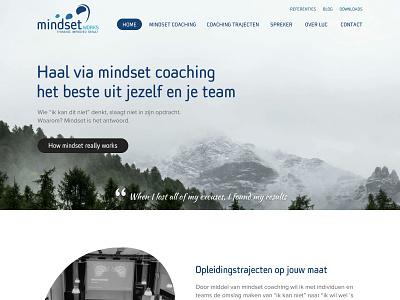 Mindsetworks quotes mountain shapes design website webdesign