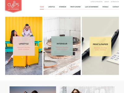 Clips design website webdesign