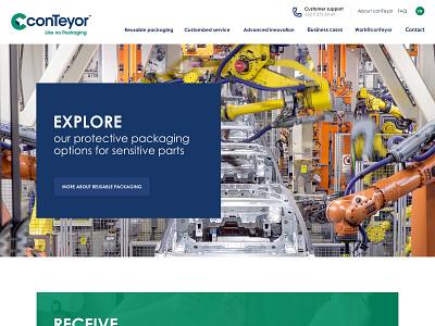 conTeyor, Like no Packaging design website webdesign
