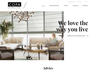 Copahome - We love the way you live typography design website webdesign