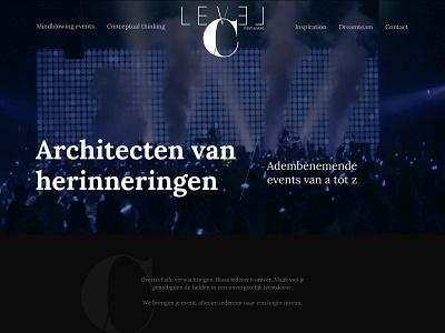 Level C - Events & More design website webdesign