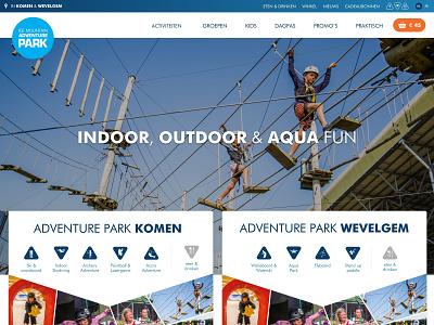 Adventure Park ski snowboard adventure ui design webdesign website