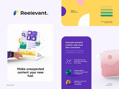 Reelevant on Behance agency logo color design illustration ux ui identity branding motion graphics motion animation 3d behance