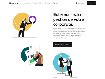 Uplaw Motion motion cover colors clean animation home illustration color landing agency me ux ui