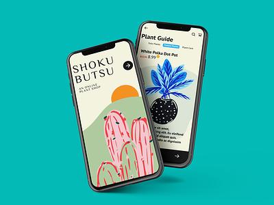 Shokubutsu Plant App shopping app shop app shop plant app plants app plants planter ui designs ux design illustration design uiux ux ui
