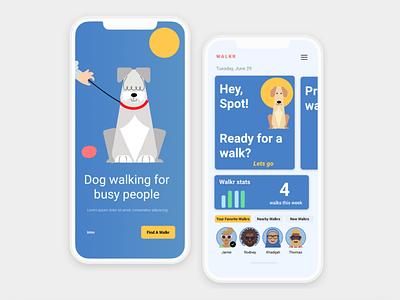 WALKR app idea gig economy gigposter uber dog walkers petcare pets pet dog walking walkr walking walker typography fitness uiuxdesign branding uiux design ui ux