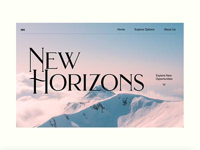 New Horizons camping outdoors hiking northface the north face web designer ux ui design website design website webdesign ux design hero section typography uiuxdesign branding uiux design ui ux