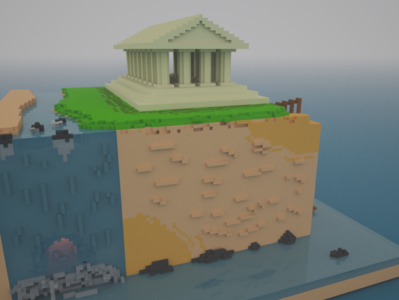 """The climb"". 3D on Magica Voxel"