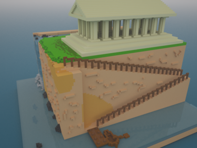 """The climb"" right side. 3D on Magica Voxel"