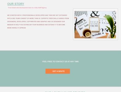bringo landing page about ui web-agency landing page flatdesign uidesign
